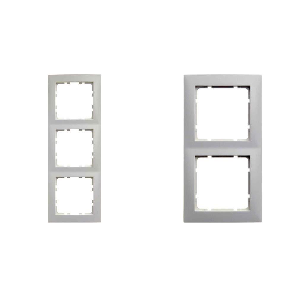 Hager S1/ /Rahmen 3/Elemente Serie 1/Glanz Wei/ß Polar