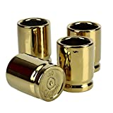 Barbuzzo 50 Caliber Shot Glass - Set of 4 Shot Glasses Shaped like Bullet Casings - Step up to the Bar, Line 'Em Up, and Take Your Best Shot - Great Addition to the Mancave - Each Shot Holds 2-Ounces