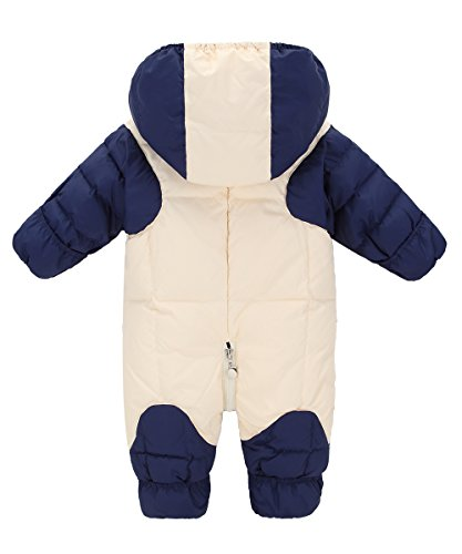 GainKee Puffer Jacket Duck Blue Down Baby Hooded Snowsuit Wear and Kids Jumpsuit Snowsuit Snow Romper Winter Warm Boy Girl Baby 710q7wrxX