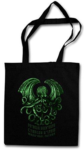 CTHULHU RŽLYEH Hipster Shopping Cotton Bag Cestas Bolsos Bolsas de la compra reutilizables - Wars Horror Arkham H. P. Lovecraft Miskatonic