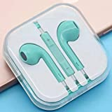 Pink Earphones/Earbuds/Headphones for Women Mic&Remote Control Compatible with iPhone Galaxy More Android Smartphones ... (Tiffany Blue)