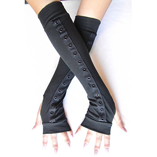 Extra Long Corset Black Arm Warmers -