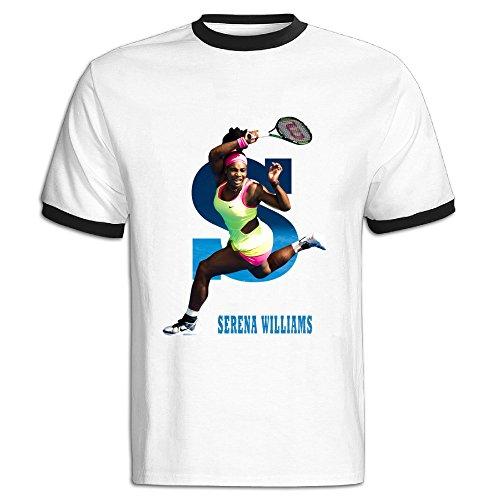 JWZT-KN Men's Wimbledon Championships Serena Williams T Shirt Black