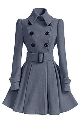 Tweed Manteau Vosujotis Grey Les Laine Outcoat Femmes Vintage Une Crois FYpO0