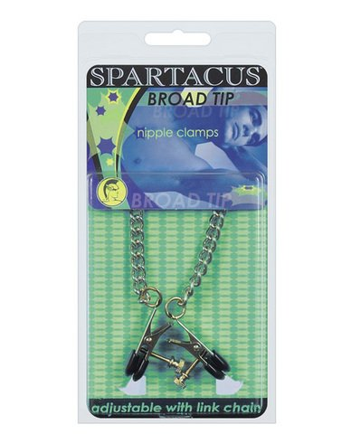 Adjustable-broad-tip-nipple-clamps-wlink-chain-Package-Of-6-Half-Case