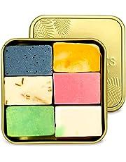puremetics Zero Waste testpakket: 6 zeep mini's + reisbox gratis | 100% natuurlijk, veganistisch & plasticvrij | natuurlijke zeep zonder plastic | vaste douchegel, shampoo, gezichtsverzorging