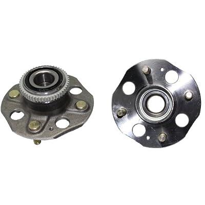 Detroit Axle - Rear Wheel Bearings and Hubs for 1994-1997 Honda Accord 4 Lug w/ABS (Pair) 512020 x2: Automotive