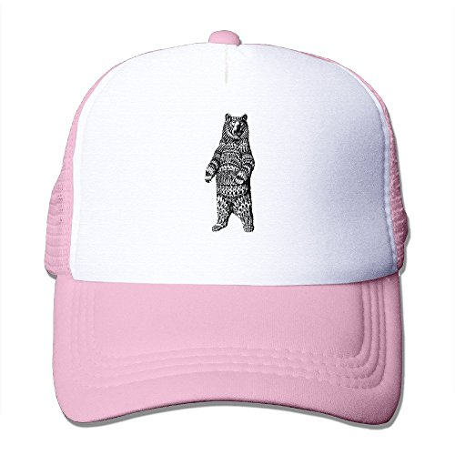Cool Ornate Grizzly Bear Trucker Cap Baseball Hat (5 Colors) ()