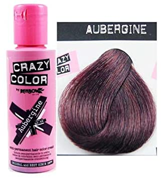 renbow crazy color semi permanent hair dye 100ml aubergine - Coloration Aubergine