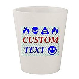 Custom Printed 1.5oz Ceramic White Shot Glass CP07 – Add Your Custom Text – Graphic Mug