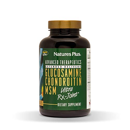 - Natures Plus Glucosamine/Chondroitin/MSM Ultra Rx-Joint Tablets - 180 Count, Extended Delivery - High Potency Joint Support Supplement - Gluten Free - 60 Servings