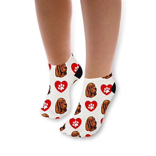 Sussex Spaniel Dog Heart Paws Pattern Unisex Toddler Baby Ankle Socks Funny Novelty Kids Socks Polyester & Polyester Blend - Single (Sussex Single)