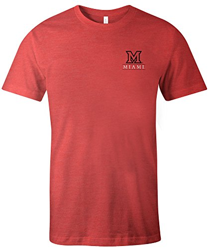 NCAA Miami (Ohio) Redhawks Simple Mascot Short Sleeve Triblend T-Shirt, Medium,Red