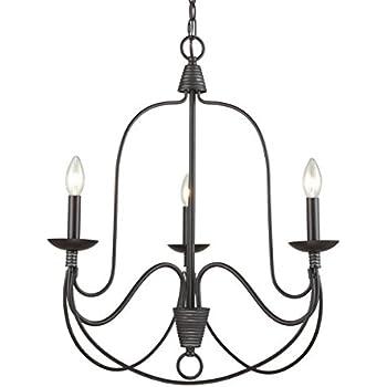 Dazhuan Antique 3 Lights Candelabra Chandeliers Candle Chandelier , Wrought  Iron Ceiling Fixtures Pendant Lighting