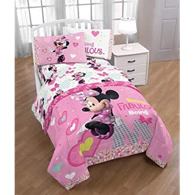 Disney Minnie Mouse Girls Twin Bedding Sheet Set: Home & Kitchen