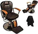 Product review for LCL Beauty Reclining Hydraulic Barber Chair With Natural Oak Wood Armrests & Wood Grain Accent