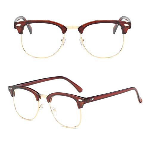 perfect-kim Affordable 2019 Anti Blue-Ray Clear Lens Computer Glasses Fashion Eyeglasses for Women Men Spectacle Frame Fashion Oversize Eyeglasses in fine Style(None NA Transparent Tea Ring) (Sonnenbrillen Computer)