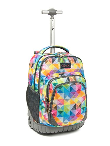 Tilami Rolling Backpack Armor Luggage School Travel Book Laptop 18 Inch Multifunction Wheeled Backpack for Kids and Students