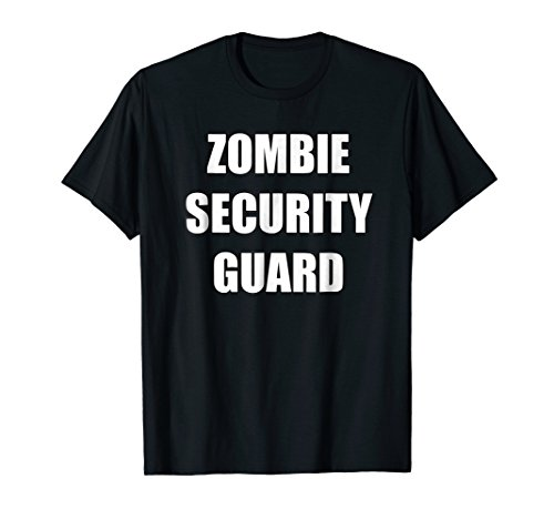 Mens Zombie Security Guard Costume Shirt Zombie Party 3XL (Security Guard Costume Male)