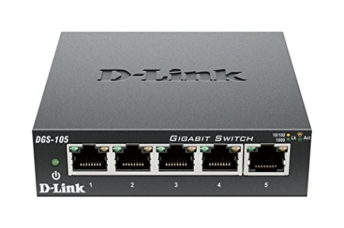 D-Link 5 Port Gigabit Unmanaged Metal Desktop Switch  Certif