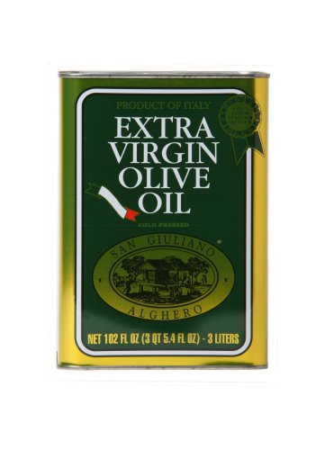 San Giuliano Extra Virgin Olive Oil , 101-Ounce Tins (Pack of 2) by San Giuliano