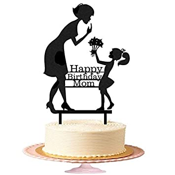 Happy Birthday Mom Cake Topper For Gilrs Wishes To Rustic Wedding