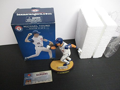 2005 Texas Rangers Michael Young Baseball Statue SGA #1 of 3 with Ticket Stub