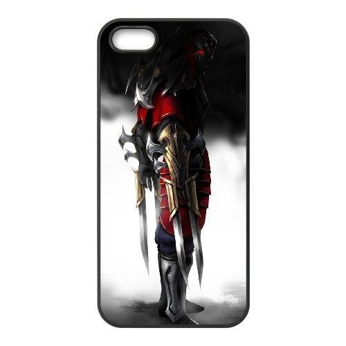 N0H78 Zed League of Legends I6U3YY coque iPhone 5 5s cellule de cas de téléphone couvercle coque noire KO7NJK8HT