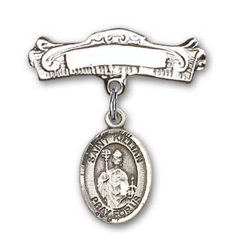 Icecarats Créatrice De Bijoux En Argent Sterling St. Kilian Charme Broches Badge Arc 7/8 X 7/8