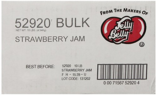 Jelly Belly Strawberry Jam Jelly Beans, 10-Pound Box