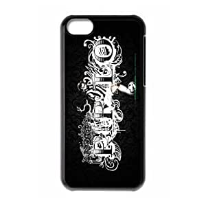 Soccer Juventus Football Club Classic Design Print Black Case With Hard Shell Cover for Apple iPhone 5C