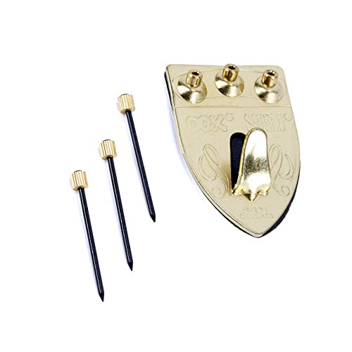 Steel Wall Shield (Ook Picture Hanger Shield 75 Lb Includes Needle Point Blue Steel Nails 2