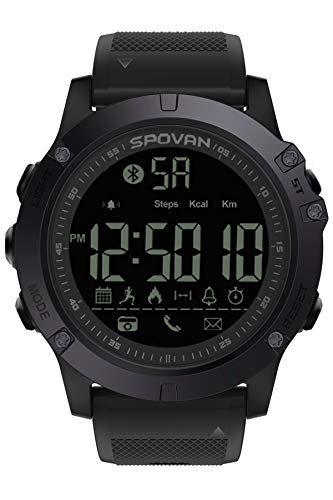 Mens Sports Watch Bluetooth Activity Tracker Waterproof Digital Military Pedometer Calorie Counter Multifunction Wrist Smart Watch