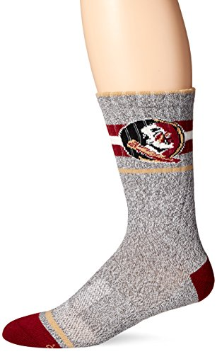 Florida State Single (NCAA Florida State Seminoles Men's Collins Fuse Crew Socks, Large,)