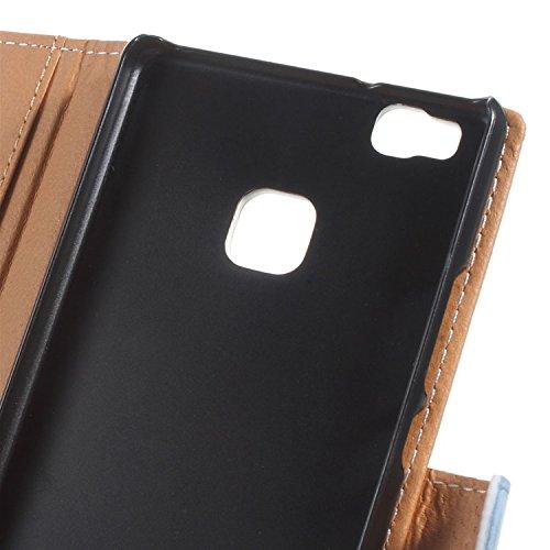 Vandot para Huawei P9 Lite PU Funda Serie Bolsa Modelo Colorido con Bonito Hermoso Patrón de Impresión Dibujo Monedero de la Cartera de la Cubierta Móvil del Bolso del Teléfono Móvil del Proteja la pi HSD 12
