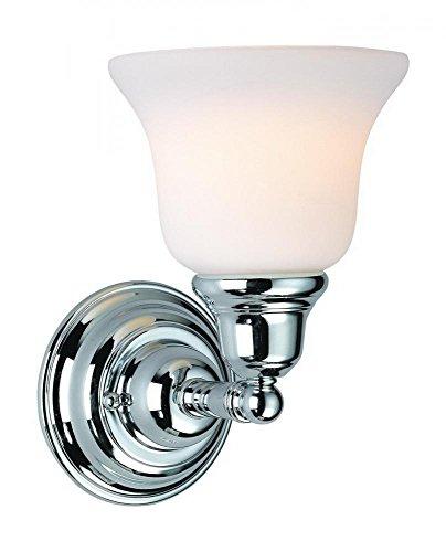 - Dolan Designs 491-26 1Lt Bath Chrome Brockport 1 Light Bathroom Fixture,