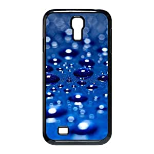 Samsung Galaxy S4 Cases Blue Water Drop 06 Protective Cute for Girls, Phone Case for Samsung Galaxy S4 for Men Protective Cute for Girls [Black]