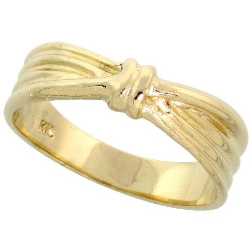 Ribbon Knot Ring (14k Gold Ribbon Knot Ring, 1/4