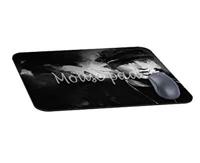Office Rectangle Mouse Pad with Eminem Music Face Image Cloth Cover Non-Slip Rubber Backing-Gaming Mousepad(8.7x7.1x0.12 Inch)