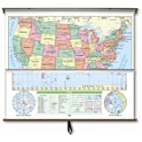 Essential Wall Map Combo - U.S.   W
