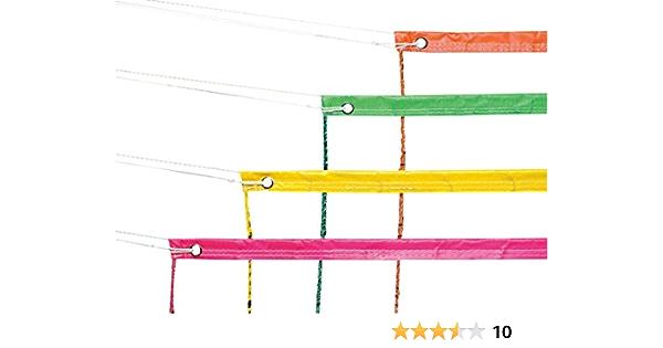 "Neon Green Vinyl Volleyball Nets 32 X 3-Feet Fashion Headbands Sports /"" Court"