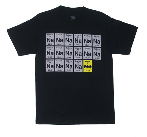 Sodium Batman - DC Comics T-shirt: Adult 2XL - Black