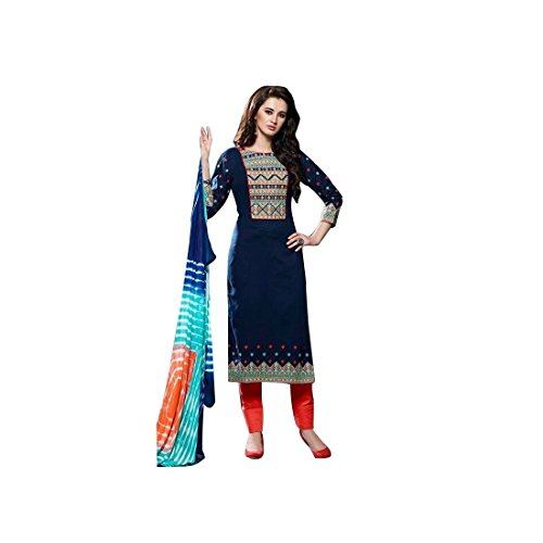 Ready-Made-Cotton-Embroidered-Salwar-Kameez-Tie-Dye-Chifon-Dupatta