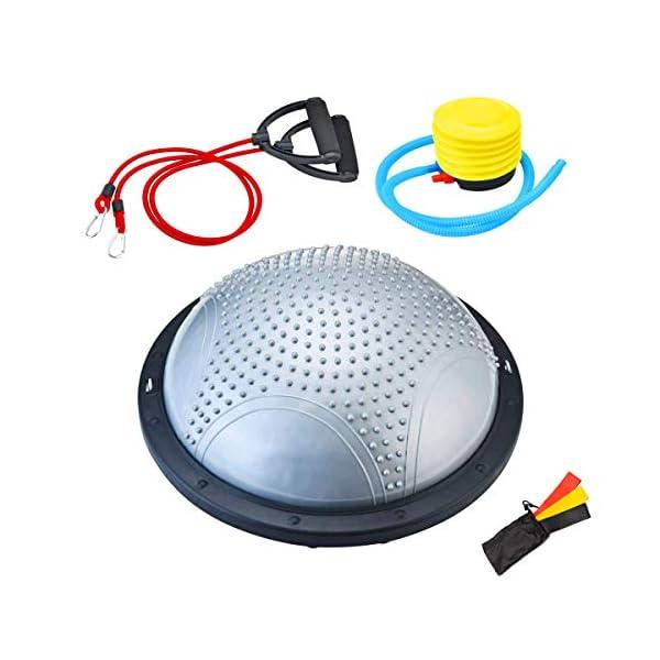 NORDERBRØ - Balance Ball, Palla Fitness per Training PRO con Cinghie Laterali, Pilates, Stabilità, Allenamento… 1 spesavip