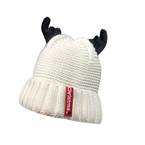 MALLOOM Christmas Hat for Adult Women Funny Autumn Winter Cashmere Antler Knitting Wool Warm Hat