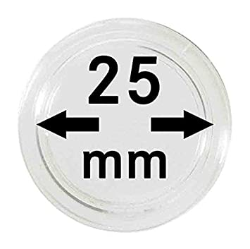 Lindner 2250025 10 Pieces Coin capsules 25 mm