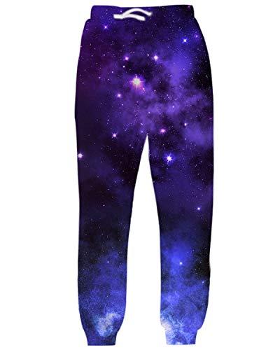 inted Star Galaxy Sweatpants Sports Joggers Pants Hip Hop ()