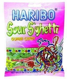 Haribo Sour Sghetti Gummies 12 Pack Case of 5oz Bags