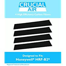 4 Honeywell Carbon Filters Fit most Honeywell towers & tabletops, HHT-08X, HHT-090, HPA-X50, HHT-X55, HHT-14X, HHT-01X, HHT-100, HHT-1500, 16200 & Vicks V9071, Compare to Part # HRF-B2, Designed & Engineered by Crucial Air