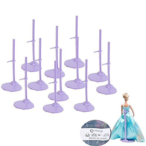 E-TING 12pcs Clothing Stand Model Support Frame Prop Up for Barbie Dolls (Barbie Doll Stands)